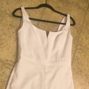 White Bebe jumpsuit